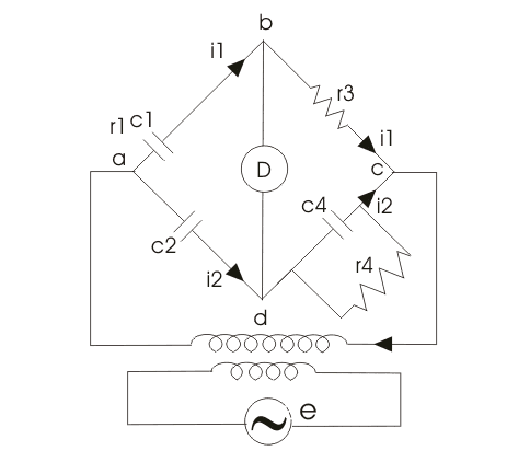 schering bridge measurement of capacitance using schering bridge, circuit diagram