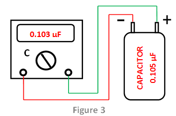 using capacitance setting mode of a Multimeter