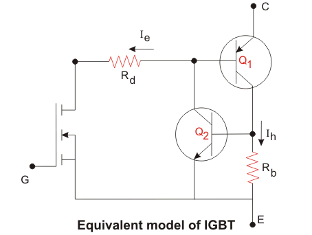 equivalent circuit model of IGBT