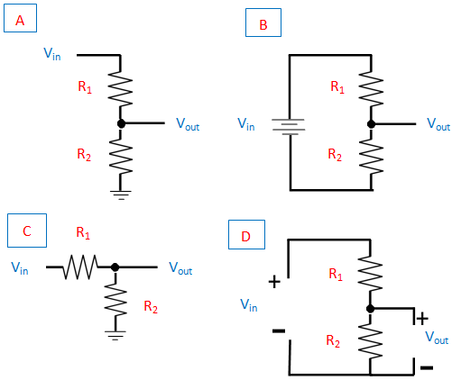 circuit of voltage divider