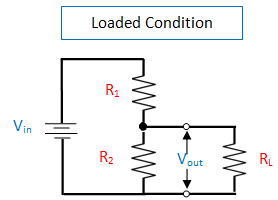 voltage divider circuit with loaded condition
