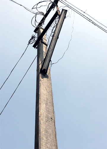 Types Of Electrical Poles : Electric poles