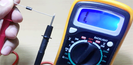 diode check by using a digital multimeter