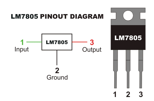 electrical ic 7805 voltage regulator circuit diagram