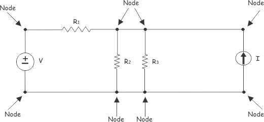 nodes of electric circuit