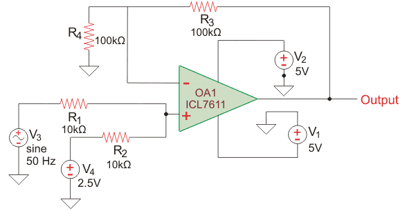 op amp application as a phase shifter