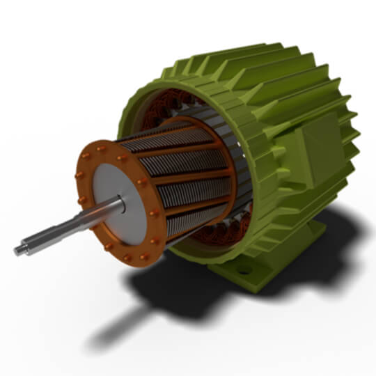 ... motor. squirrel cage rotor