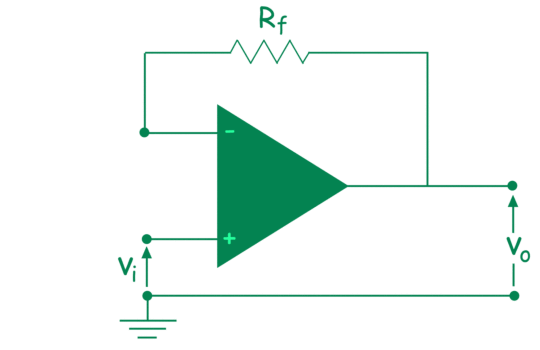 unity gain operational amplifier