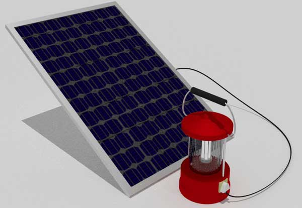 Working of Solar Lantern
