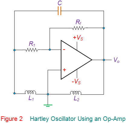 hartley oscillator using an op-amp