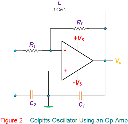 colpitts oscillator using an opamp
