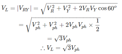 Relationship of Line and Phase Voltages and Currents in a Star