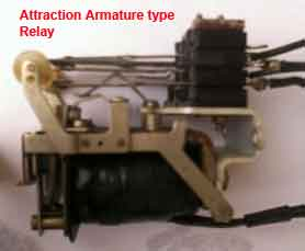 attraction armature relay