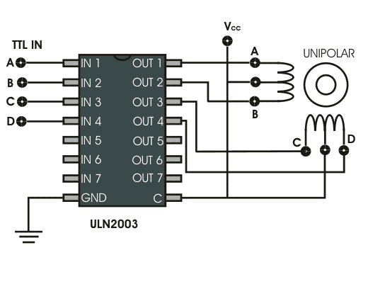 Stepper motor drive electrical4u Step motor driver circuit