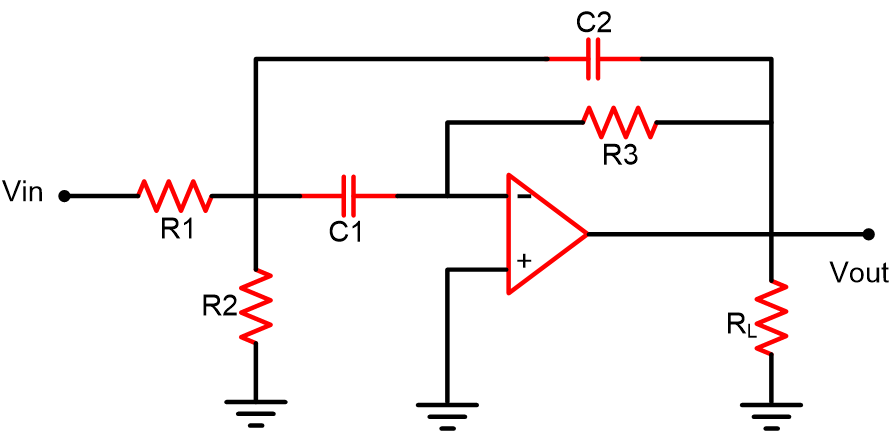Circuit Diagram of Narrow Band Pass Filter