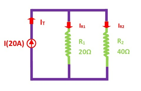 Current Divider Rule Example 1
