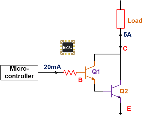 Darlington Transistor as a Switch
