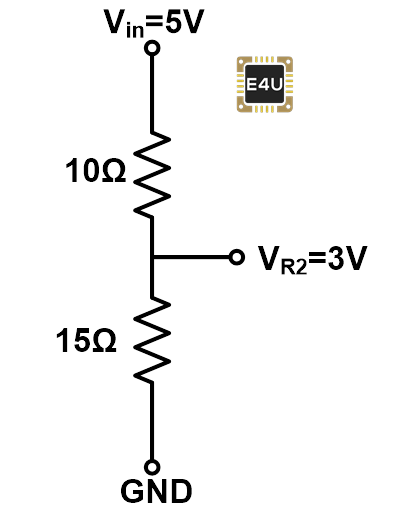 example reduce dc voltage with resistors