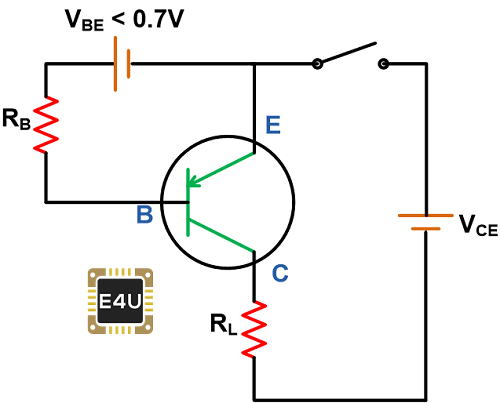 PNP Transistor as Open Switch