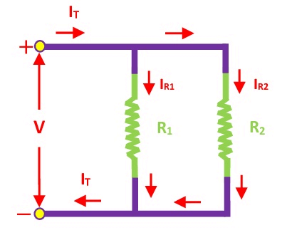 Resistive Current Divider Circuit
