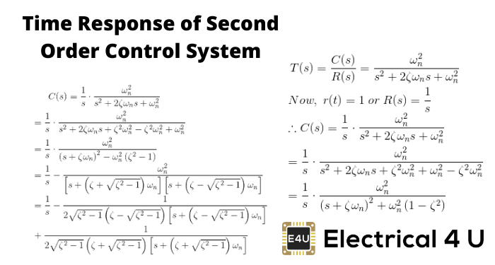 Time Response Of Second Order Control System