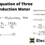 Torque Equation of Three Phase Induction Motor