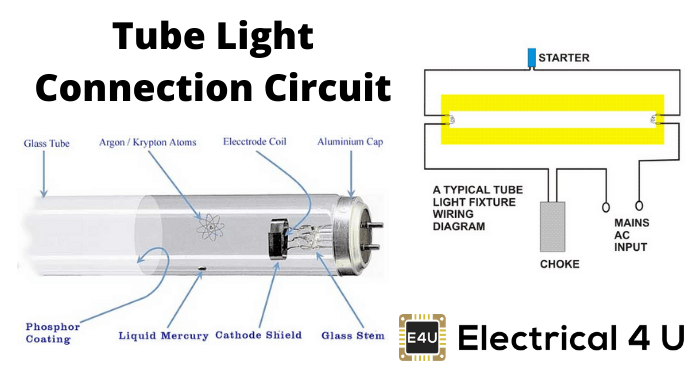 tube light connection circuit  wiring diagram  electrical4u