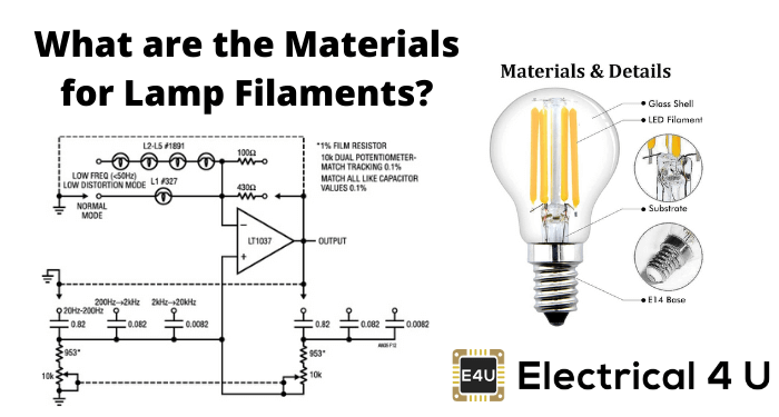 What Are The Materials For Lamp Filaments
