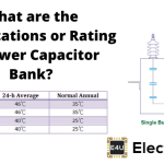 Specifications or Rating of Power Capacitor Bank