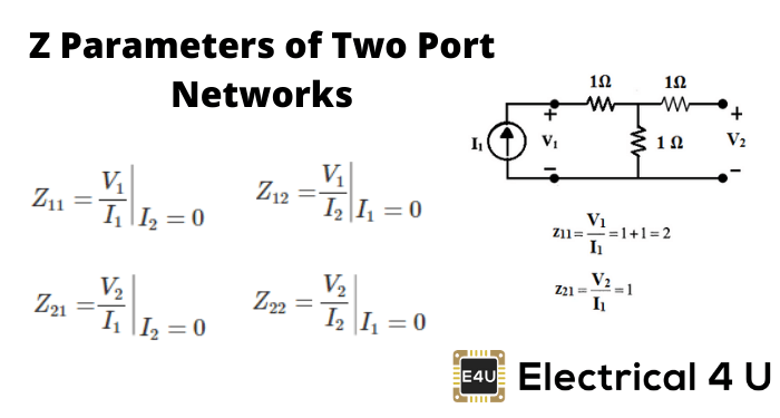 How To Find Z Parameters of Two Port Network (Examples)