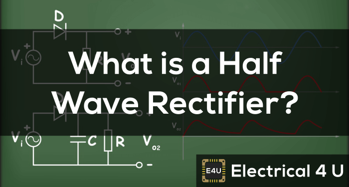 Half Wave Rectifier – Circuit Diagram, Theory & Applications